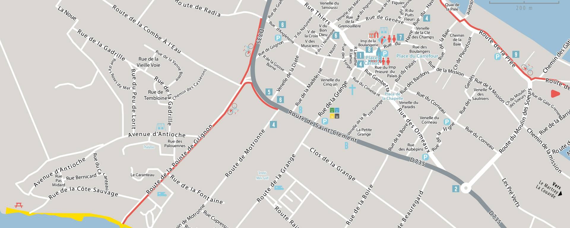 Landkarte von Ars-en-Ré