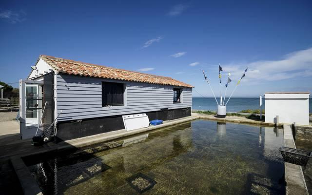 Die Austernzuchthütten