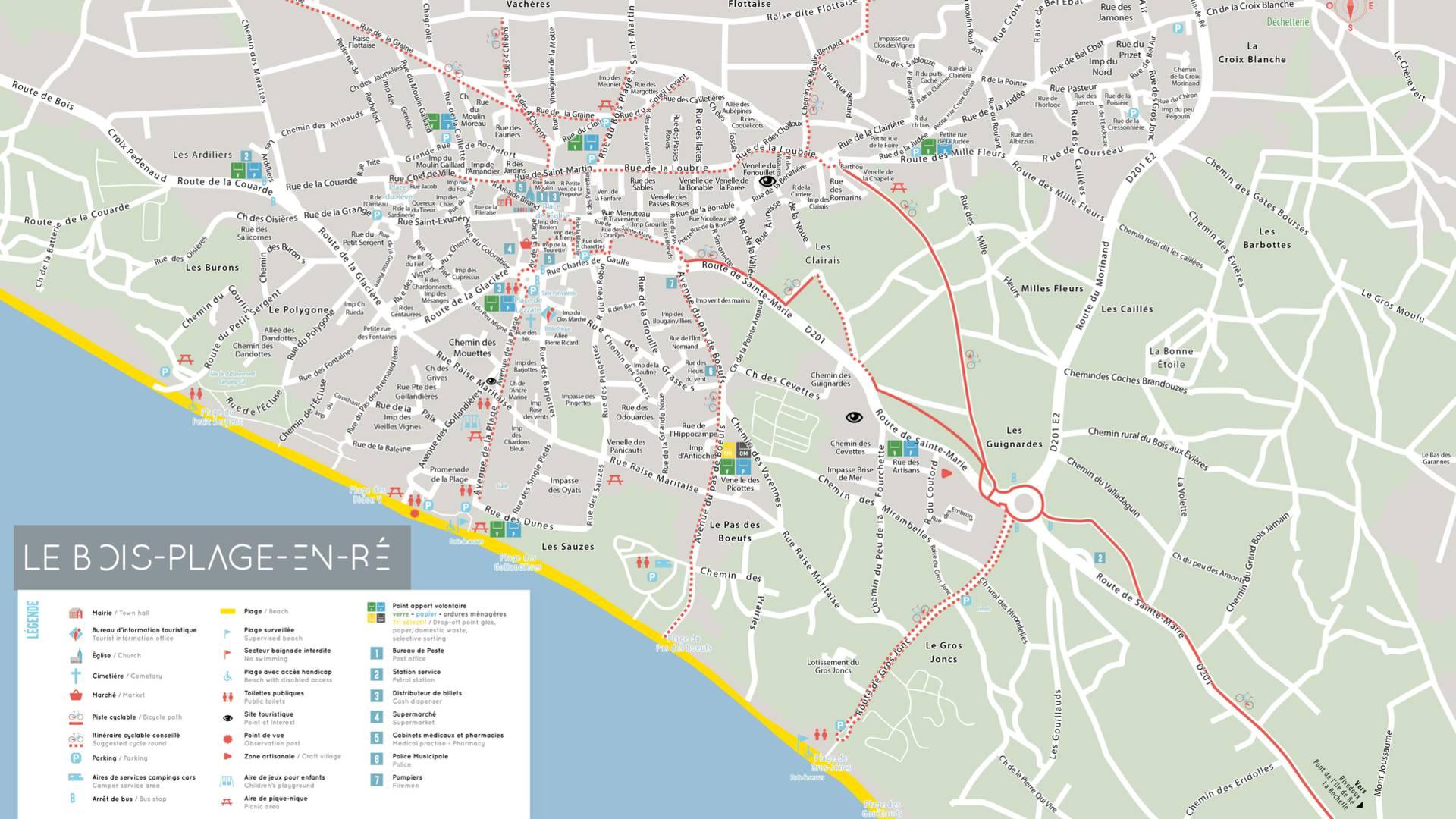 Plan Ile de Ré, Dorf Le-Bois-Plage-en-Ré