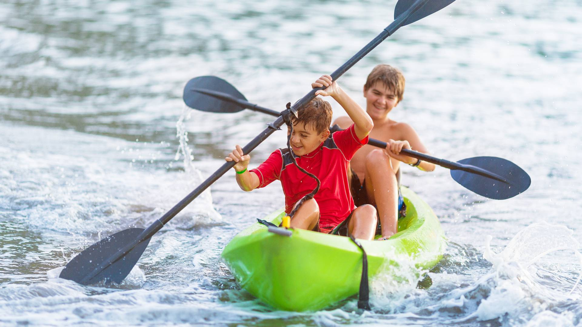 Le canoé avec les enfants