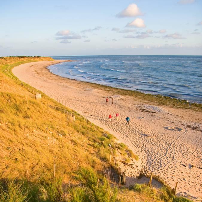 Vue de la plage depuis les dunes