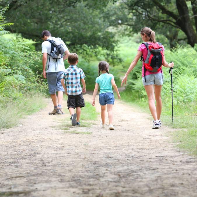 Randonnée pédestre en famille